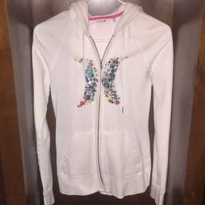 Hurley white zip up jacket